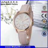 Orologio delle signore del quarzo della cinghia di cuoio di OEM/ODM (Wy-095B)