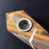 Tubo que fuma material natural del tubo de piedra de bambú de la mano del tubo de la mano que fuma