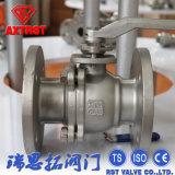 CF8m / CF8 con brida 2PC Válvula de bola con placa de fijación