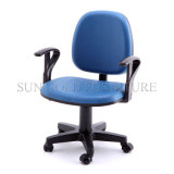 Стул компьютера стула офиса дешевой популярной ткани голубой (SZ-OC012)
