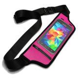 만질 수 있는 스크린 방수 이동 전화 주머니 홀더 부대를 가진 옥외 운동 Lycra 허리 팩 운영하는 벨트