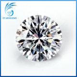 반지 보석을%s 도매가 합성 백색 Moissanite 둥근 H&a에 의하여 잘리는 원석
