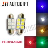 FT 5050 6SMD 31/36/39/41mm Birnen-Schicksal-Tür-Licht des Auto-LED