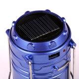 Luz que acampa recargable de los productos solares LED con la batería de litio