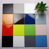 Azulejo esmaltado de cerámica interior lavable resistente de la pared de la cocina y del balcón del resbalón puro del color del grado 100X100 del AAA (LM1100Y)