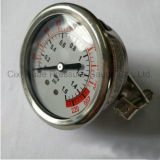 2.5inches振動証拠および液体のFillableのパネルの圧力計