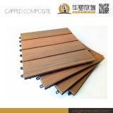 Mosaïque Co-Extrusion WPC Deck/plafonné verrouillage antiglisse WPC DIY Tile