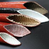 Sleeving de alta temperatura da fibra de vidro revestido com o silicone