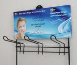 Produits de beauté de tenture en métal/crémaillère d'étalage produits de soins de la peau
