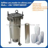 Cárter del filtro sanitario de bolso del acero inoxidable de la categoría alimenticia para el filtro líquido