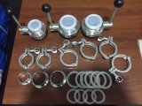 Tri abrazaderas del trébol de la abrazadera de tubo de las uniones de la abrazadera del trébol del acero inoxidable