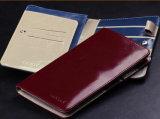 أصليّ [بو] جلد جواز سفر محفظة حقيبة منام حامل