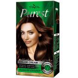 O media o mais puro Brown do creme da cor do cabelo do uso da casa da amônia livre