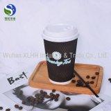 2017 heiße verkaufende einzelne Wand/doppel-wandige/Kräuselung-Wand-Mitnehmerkaffeetassen und Deckel