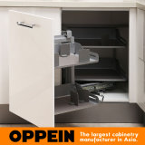 Oppeinのブランドの白いアクリルUの形の木の食器棚(OP15-011)