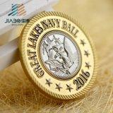 Pièces de monnaie argentées de médaillons de souvenir de la qualité 3D 999 dans l'enjeu (JIABO-1009)