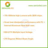 SMD 2835 세 배 증거 비상사태 단일성 LED 관 빛
