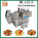 Microplaquetas de batata, peixes e máquinas do fast food da galinha