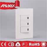 Fábrica direta para interruptores famosos da parede da tecla da corrente eléctrica do tipo
