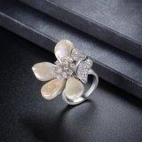 De echte Gele Ring van de Juwelen van de Parel van de Bloem van het Gouden Plateren Zoetwater