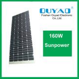 El panel solar flexible solar semi flexible del panel 160W Sunpower