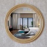 熱い販売の円形木骨董品の金の円形の組み立てられた壁ミラー