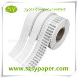Étiquette auto-adhésive de qualité matérielle de papier thermosensible de face