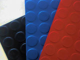 Estera de goma tachonada circular del suelo del botón redondo del modelo de la moneda