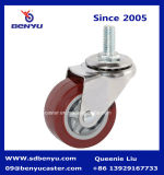 "Schwenker Screw Chromium Caster mit PU Wheel 1.5 "" 2 "" 2.5 "" 3 """