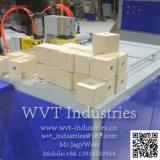 Hölzerne Chip-Sägemehl-Schnitzel-Block-heiße Presse-maschinelle Herstellung-Zeile für hölzernen Ladeplatten-Fuss-Block