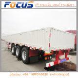 40ton 3eixos/lado da parede lateral gota/Placa Lateral/Carga a granel Truck semi reboque