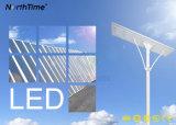 Integrado teledirigido/todo en una luz de calle solar del jardín del LED