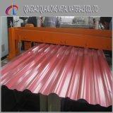 Feuille en acier ondulée enduite de toiture de couleur enduite d'une première couche de peinture par PPGI
