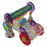 鳥籠の飼鳥園の鐘が付いている大きいオウムのおもちゃの堅いアクリル車は退屈を軽減する