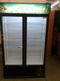 슈퍼마켓에 있는 1200liter 미닫이 문 강직한 냉각기