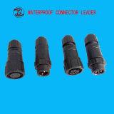白黒防水コネクター12V 2 Pin 5 Pinの電気プラグ