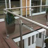 traliewerk van het Glas van de Trap van 42mm het Ronde Post Roestvrije (HR1371A)