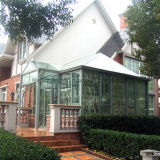 Sunroom de aluminio del edificio del chalet con el vidrio endurecido hueco (parada total transitoria)