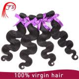 製品のインドに人間の毛髪ボディ波の毛の編むこと