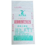 Sac de empaquetage de farine tissé par pp de fond plat de la Chine avec l'impression