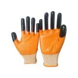 Le double a plongé le doigt de Reiforced de gants enduit par nitriles normaux
