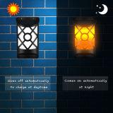 LED solaire festive Yard Jardin mur de la flamme de la rue jette de la lampe témoin de la danse
