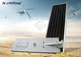 Pelouse IP65 allumant le réverbère solaire de jardin de lumière Integrated d'horizontal