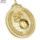 Personalizar la alta calidad chapado en oro de la medalla de metal de Voleibol