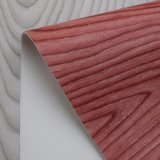 Couro malogrado do saco da esponja do PVC da grão natural de imitação da casca de árvore