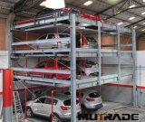 3 sistema di parcheggio di puzzle della piattaforma dell'elevatore idraulico tre dell'automobile dei pavimenti