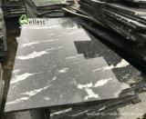 Haut de gamme G263 de la neige de tuiles polies de granit noir gris pour revêtement mural et de revêtement de sol