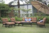 고품질 왕 Gardden 뒤뜰 안뜰 주조 알루미늄 라운지용 의자 소파는 우산으로 놓았다