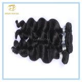 Hochwertige natürliche Farben-peruanisches exotisches Wellen-Jungfrau-Haar mit vollem Häutchen Wfpew-001