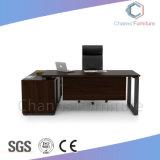 까만 L 모양 현대 책상 사무용 가구 나무로 되는 테이블 (CAS-MD1814)